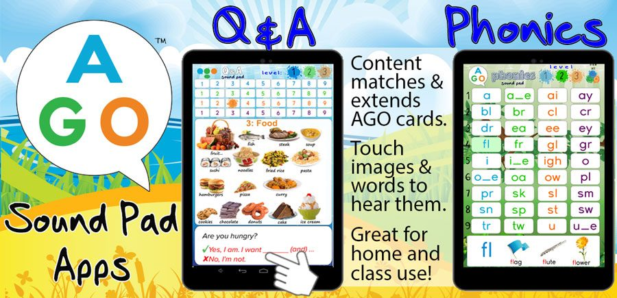 AGO Phonics and QnA card game apps
