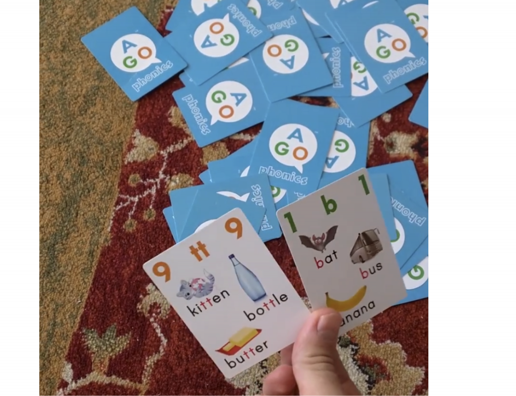 Setting up High card wins is as easy as mixing up all the cards on the floor!